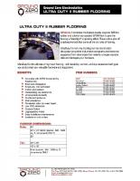UltraDuty II Rubber Flooring Data Sheet