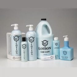blue ESD hand lotion for clean rooms