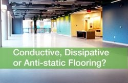Conductive, dissipative, or Anti-static Flooring