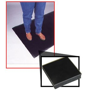 Conductive smooth top anti-fatigue mats