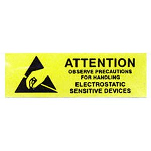 Small ESD Attention Label