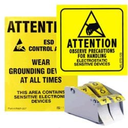 ESD Labels and Warning Signs